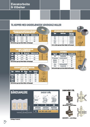 Elevatorbolts, collectors & washers - product sheet